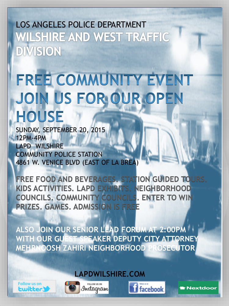 LAPD Open House – Sunday September 20, 2015 12pm – 4pm