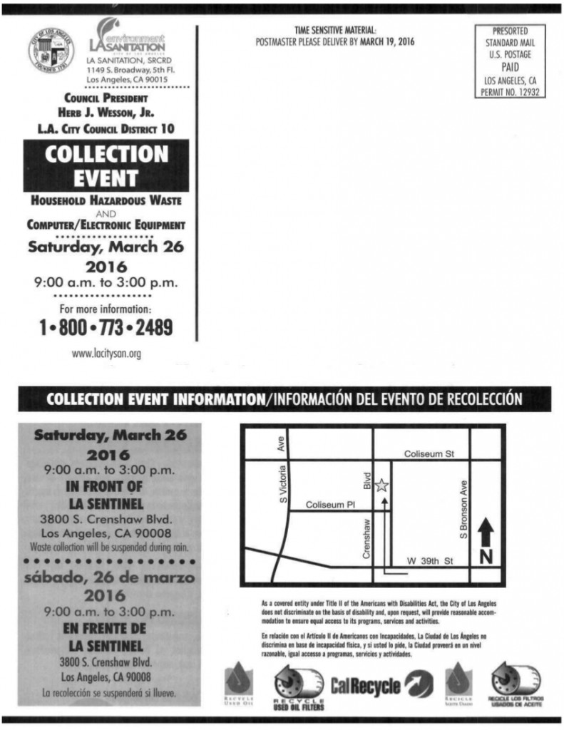 Household Hazardous Waste Collection Event